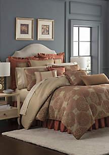 4-Piece Jonet Comforter Set Spice