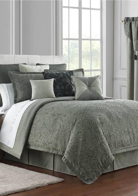 4 Piece Garner Reversible Comforter Set