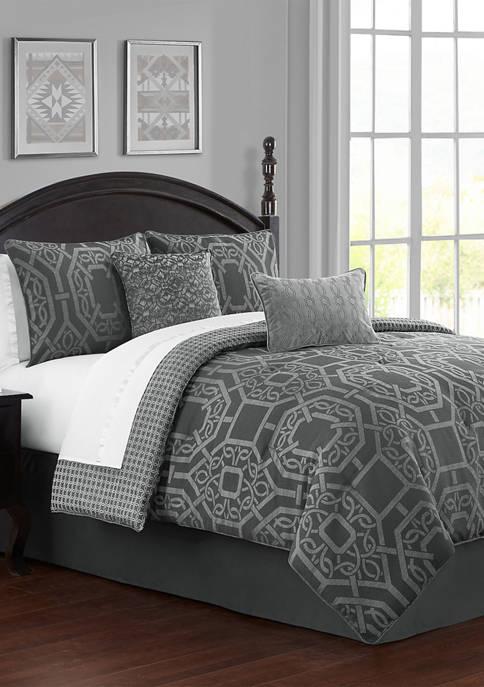 4 Piece Liam Reversible Comforter Set