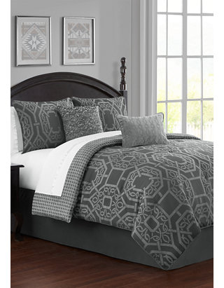 Waterford 4 Piece Liam Reversible Comforter Set Belk