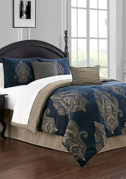 4 Piece Ryan Reversible Comforter Set