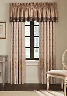 Aileen Natural Tailored Window Valance 18-in. x 60-in.