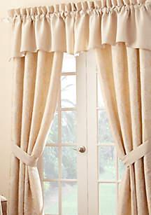 Lysander Ivory Scalloped Window Valance
