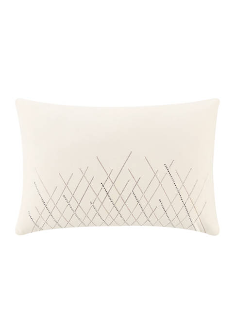 Andria 12 in x 18 in Beaded Pillow