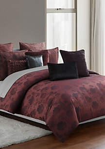 Gabriella Cabernet Full/Queen 3-Piece Comforter Set