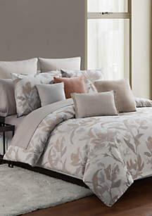 Jacqueline Desert Rose King/Cal King Comforter Set