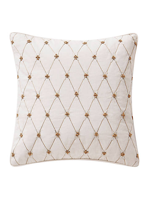 Waterford Annalise Beaded Decorative Pillow