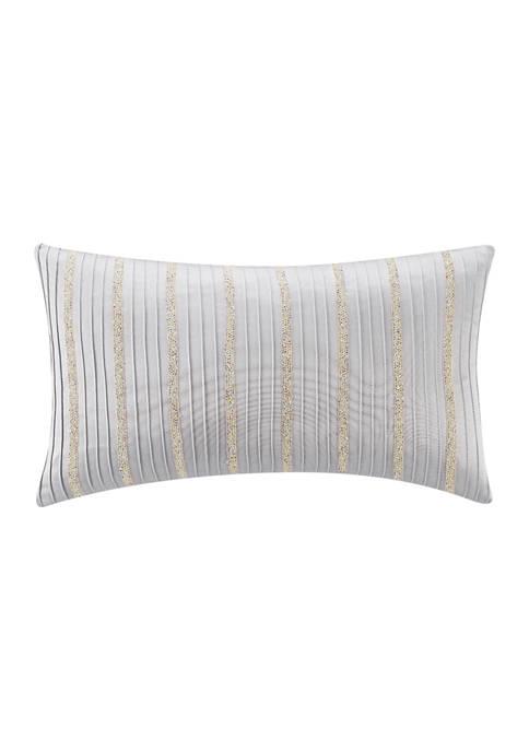 Belline 11 in x 20 in Pintucked Pillow
