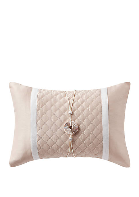 Belissa 14 in x 20 in Quilted Pillow