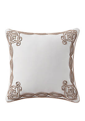 Belissa 16 in x 16 in Embroidered Square Pillow
