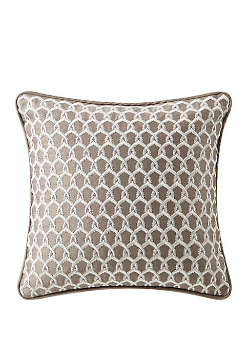 Baylen 14 in x 14 in Embroidered Square Pillow