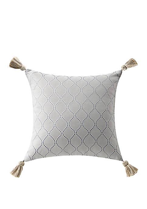 Baylen 16 in x 16 in Tassels Square Pillow
