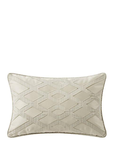 Daphne 12 in x 18 in Appliqued Breakfast Pillow