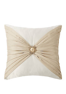 Shelah 18 in x 18 in Pleated Square Pillow