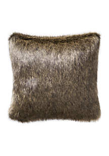 Valencia Onyx Faux Fur Decorative Pillow