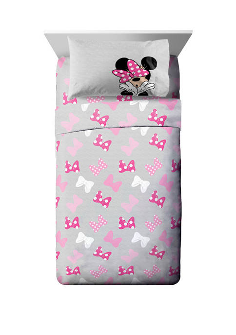 Minnie Mouse Super Soft Sheet Set with Faces