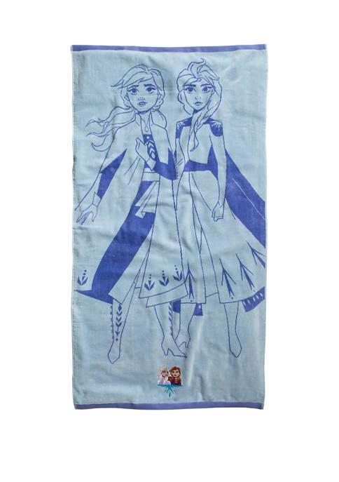 Frozen II Snowflake Beach Towel
