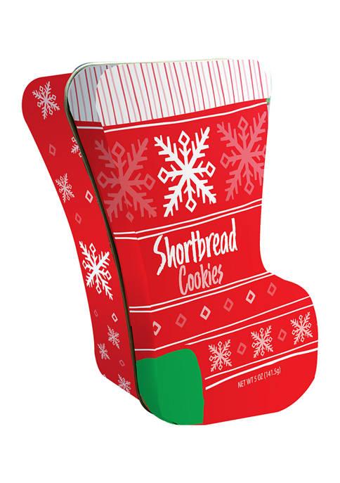 Christmas Stocking Cookie Tin