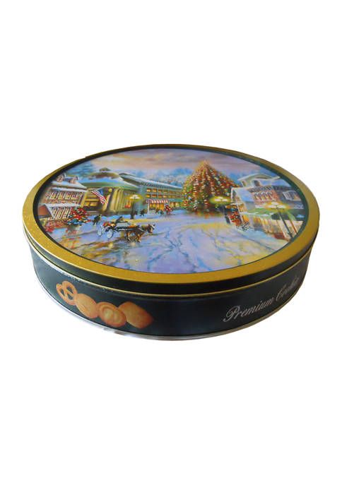 24 Ounce Holiday Premium Cookie Tin