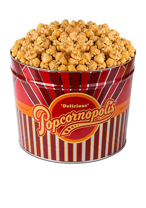 Popcornopolis Gourmet 2 Gallon Tin, Caramel