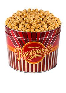 The Gifting Group Popcornopolis Gourmet 2 Gallon Tin, Caramel
