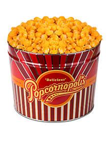 The Gifting Group Popcornopolis Gourmet 2 Gallon Tin, Cheddar