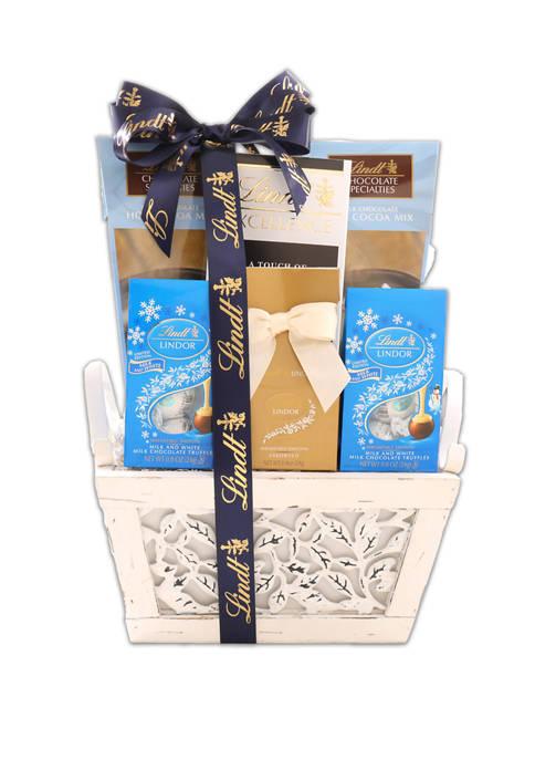 Alder Creek Gift Baskets Lindt Snowflake Sampler