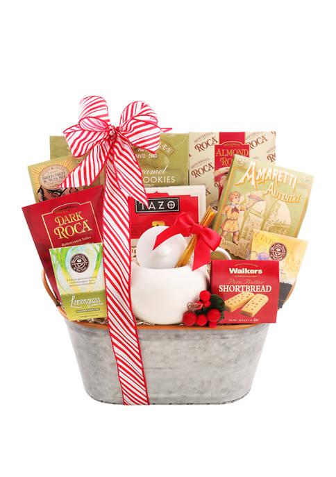 Alder Creek Gift Baskets Holiday Tea Sampler Gift