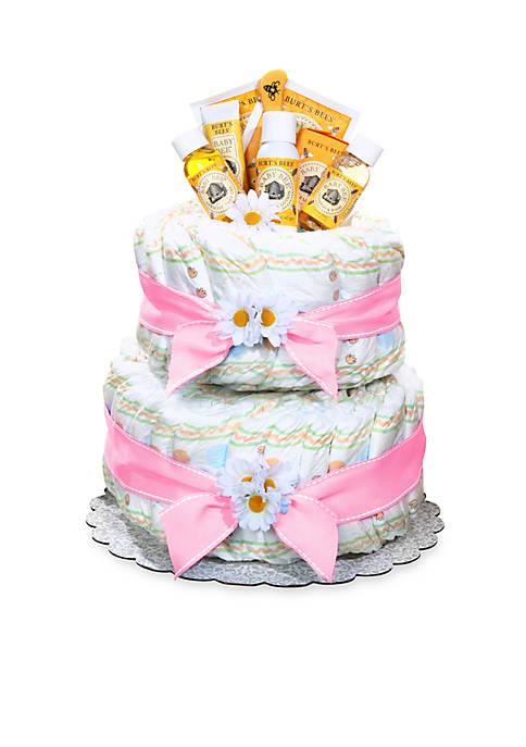 Burts Bees® Diaper Cake - Girl