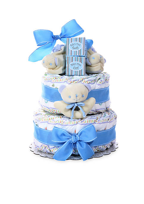 Baby Cakes 2-Tier Diaper Cake - Boy