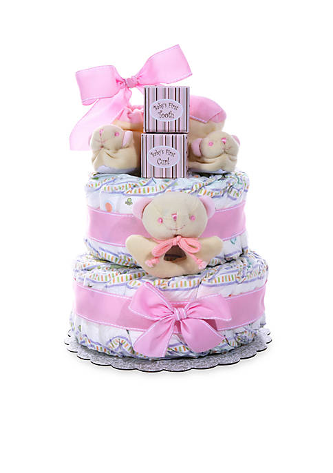 Baby Cakes Two-Tier Diaper Cake - Girl