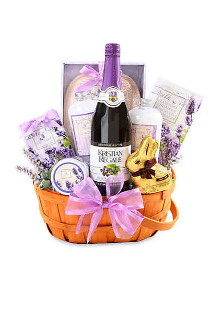 Gourmet food gifts gift baskets belk the gifting group relaxing easter lavender gift basket negle Images