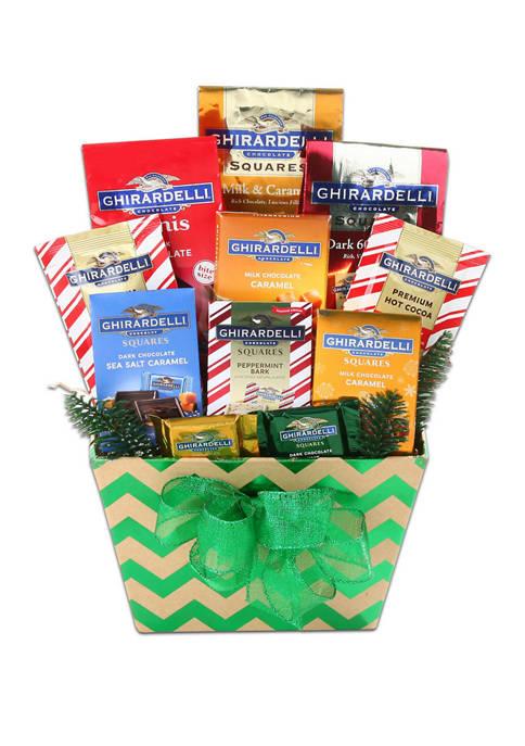 Ghirardelli Holiday Treats Gift Basket