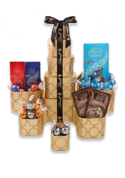 Alder Creek Gift Baskets Lindt Holiday Towers