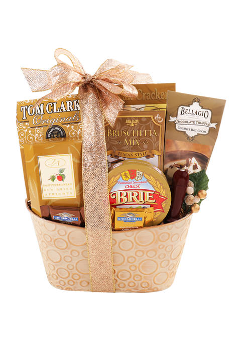 Gold Luxuries Gift Basket