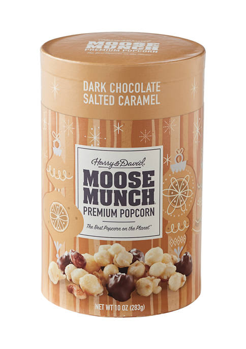 Holiday Moose Munch 10 Ounce Canister Dark Chocolate Salted Caramel