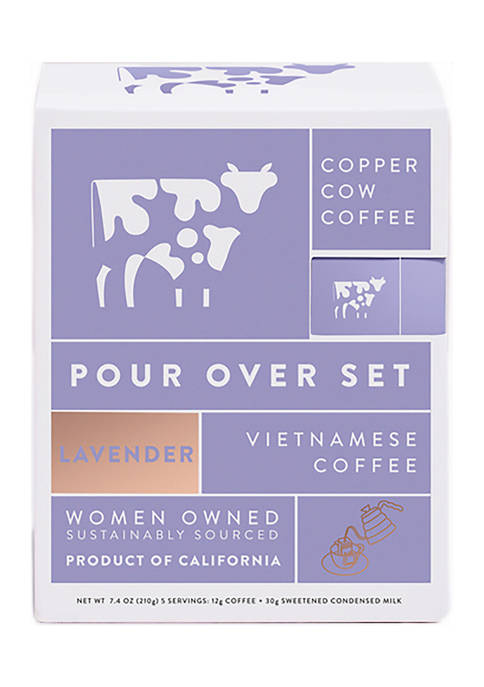 Pour Over Lavender Latte Kit with Creamer, 5-Pack