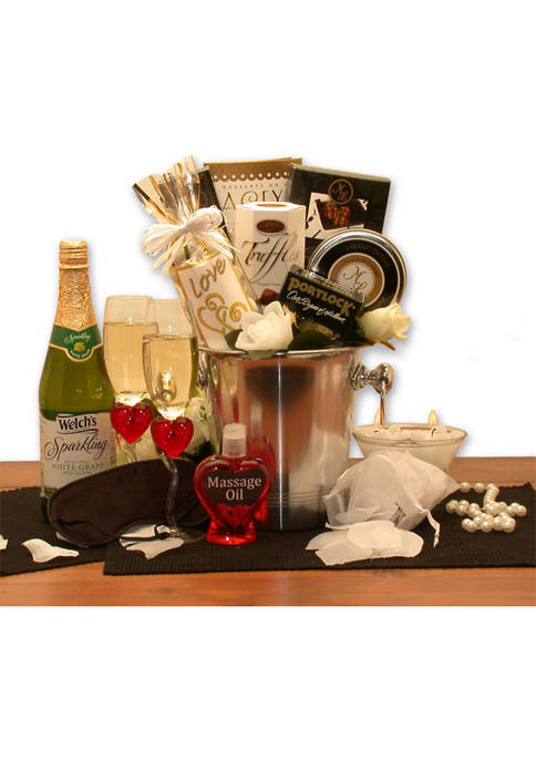 GBDS Deluxe Romantic Evening For Two Gift Basket