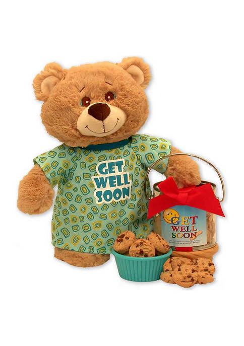 GBDS Get Well Soon Teddy Bear & Cookie