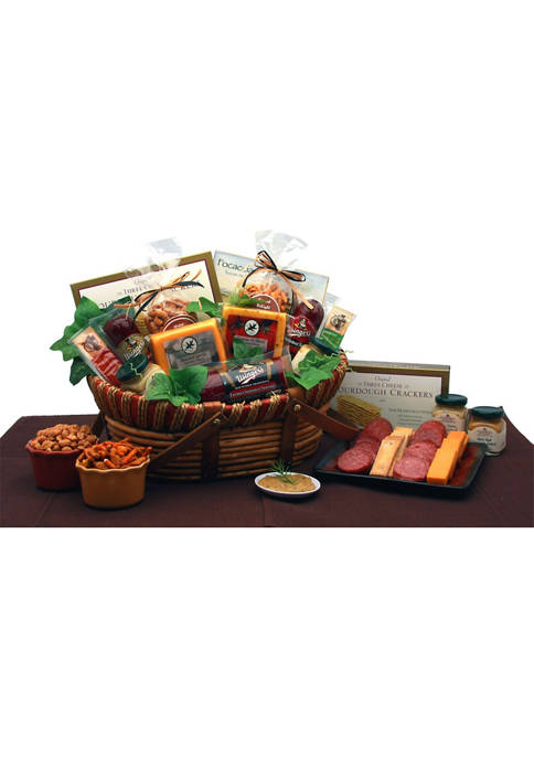 GBDS Savory Favorites Meat and Cheese Gift Basket