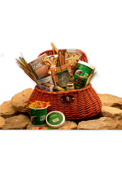 The Fishermans Fishing Creel Gift Basket