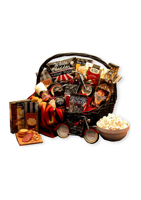 GBDS Hes A Motorcycle Man Gift Basket