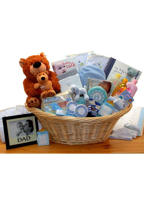 GBDS Deluxe Welcome Home Precious Baby Basket-Blue