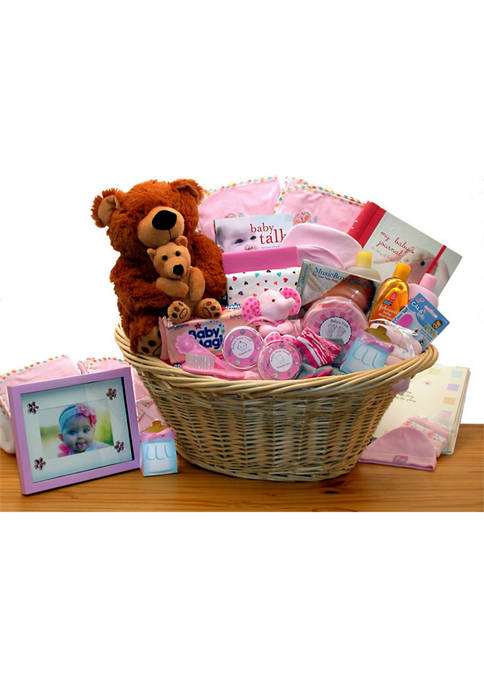 GBDS Deluxe Welcome Home Precious Baby Basket-Pink