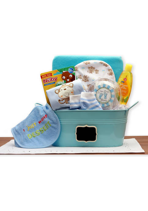 GBDS Baby Basics Gift Pail Blue