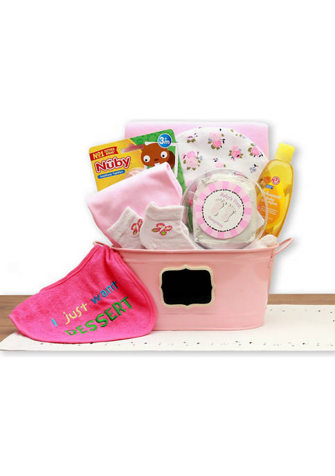 GBDS Baby Basics Gift Pail Pink