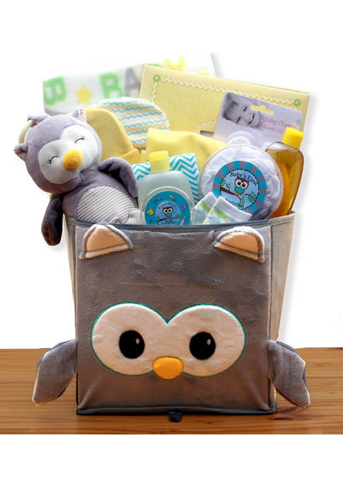 GBDS A Little Hoot New Baby Gift Basket
