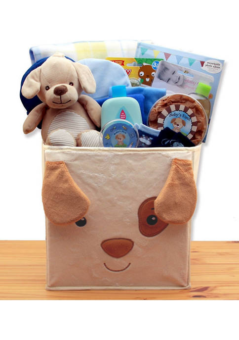 GBDS Puppy Tails New Baby Gift Basket