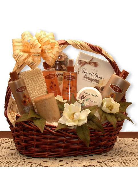 GBDS Vanilla Luxuries Bath and Body Basket
