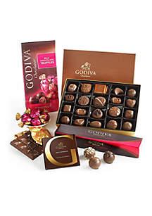 Godiva Chocolatier Milk Chocolate Lover's Tasting Gift Set with 5 Milk Chocolate Assorted Truffles
